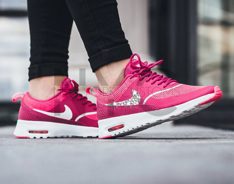 70off blinged womens nike air max thea running shoes vivid by nycustoms