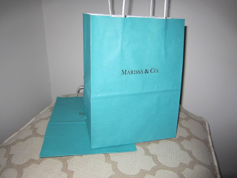 Custom Breakfast at Tiffany Inspired Bag Centerpiece by ...