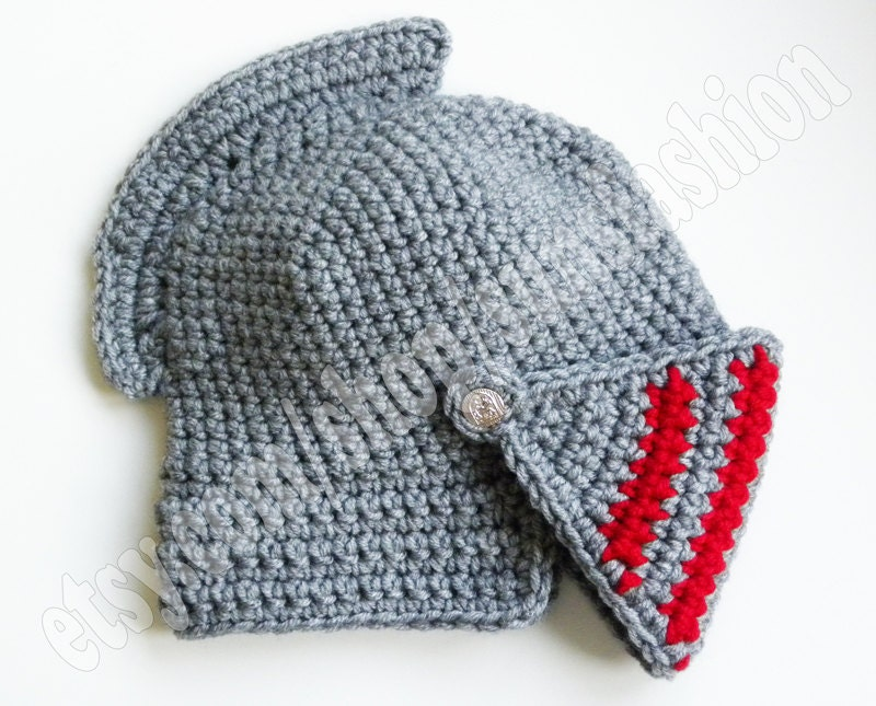Crochet Knight Helmet : Knight Helmet Crocheted hat Slouch Crochet Mens Convertible Helmet Hat ...