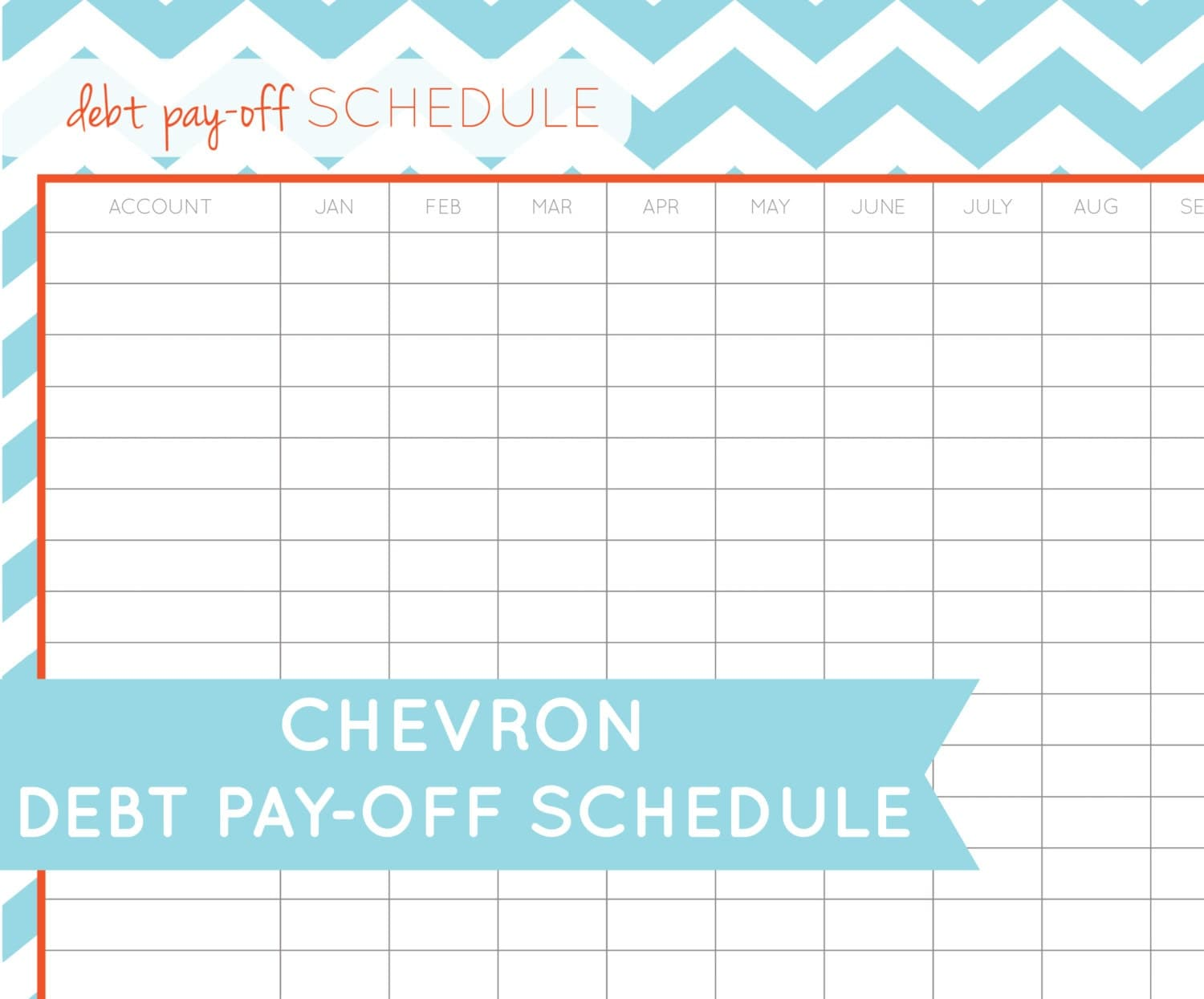 Items similar to Debt Pay-Off Schedule - Printable PDF on Etsy