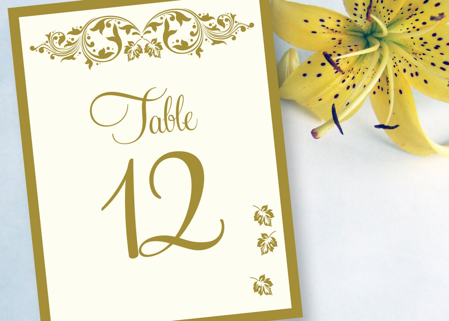 Wedding Reception Table Numbers Cards By DesignsByDirection