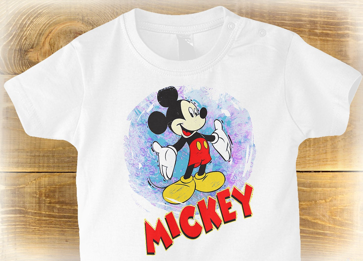 Mickey Mouse Toddlers Shirt Cute Baby Gift Toddler Disney Shirt Can Be Personalised Gifts For Kids