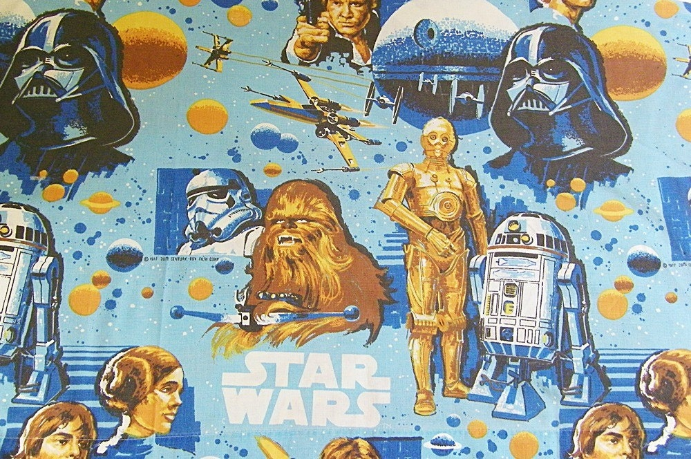 Vintage Star Wars Bed Sheet Bedding By Retroclassics On Etsy