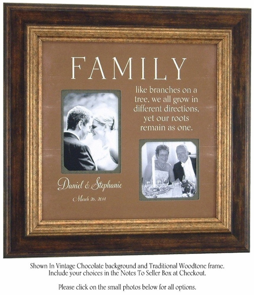 Wedding Gifts For Parents Photo Frames : Wedding Gift for Parents, Personalized Wedding Frame, Reception ...