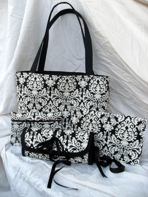 Knitting Yarn Bag Pattern : Knitting Yarn Project Bag 4 Piece Set Tote Zip by ...