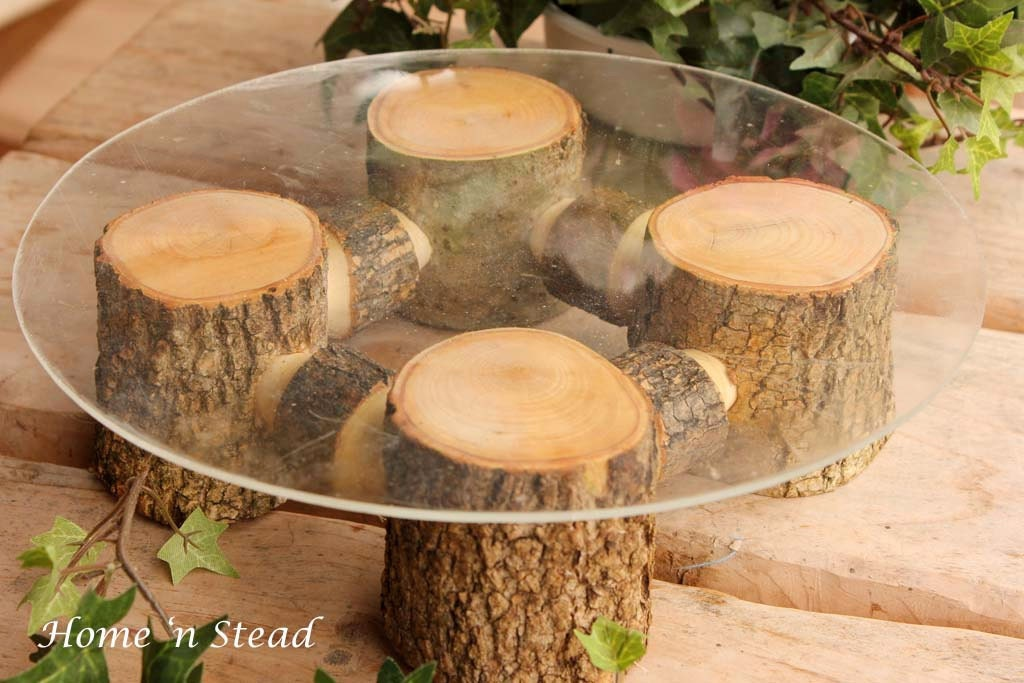 Unique Rustic Wedding Decor | Rustic Wedding Cake Stand Tab
