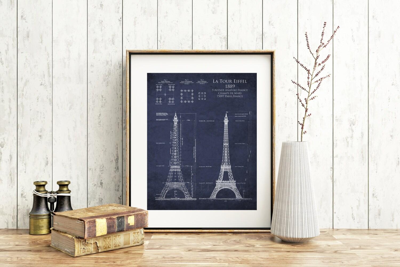 Eiffel tower bathroom decor