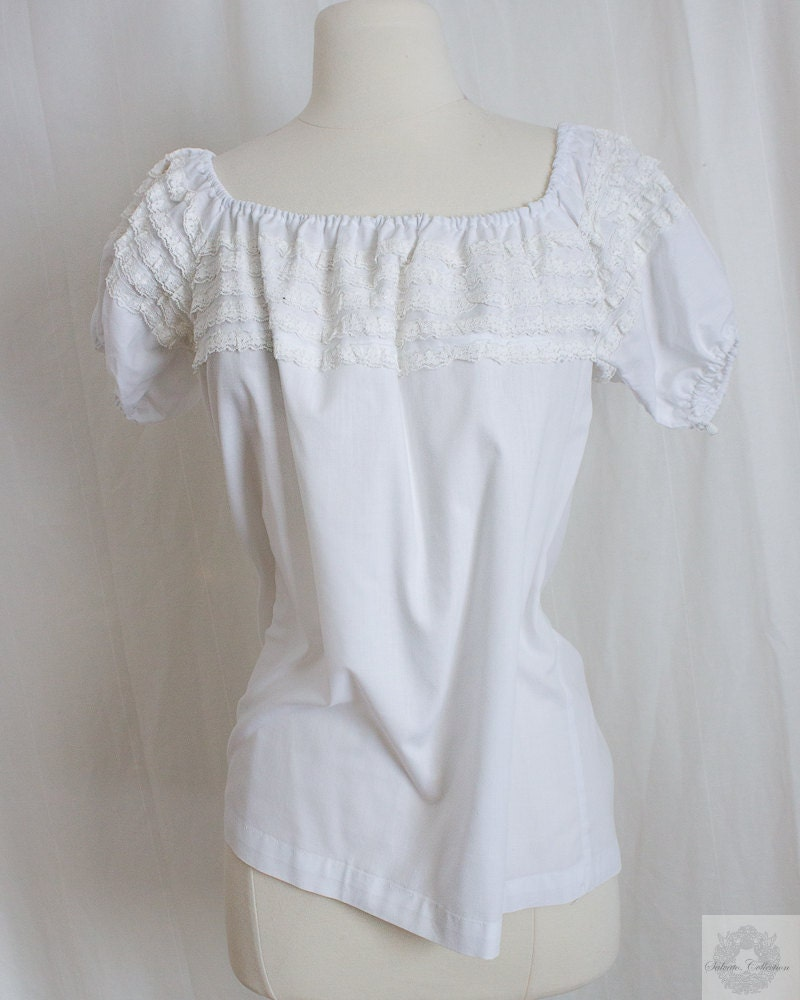 White Lace Peasant Blouse 33