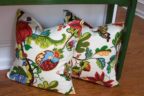 Throw Pillow Inserts Pottery Barn : Pottery Barn Serafina Pillow Covers 20x20 by anewfoundtreasure