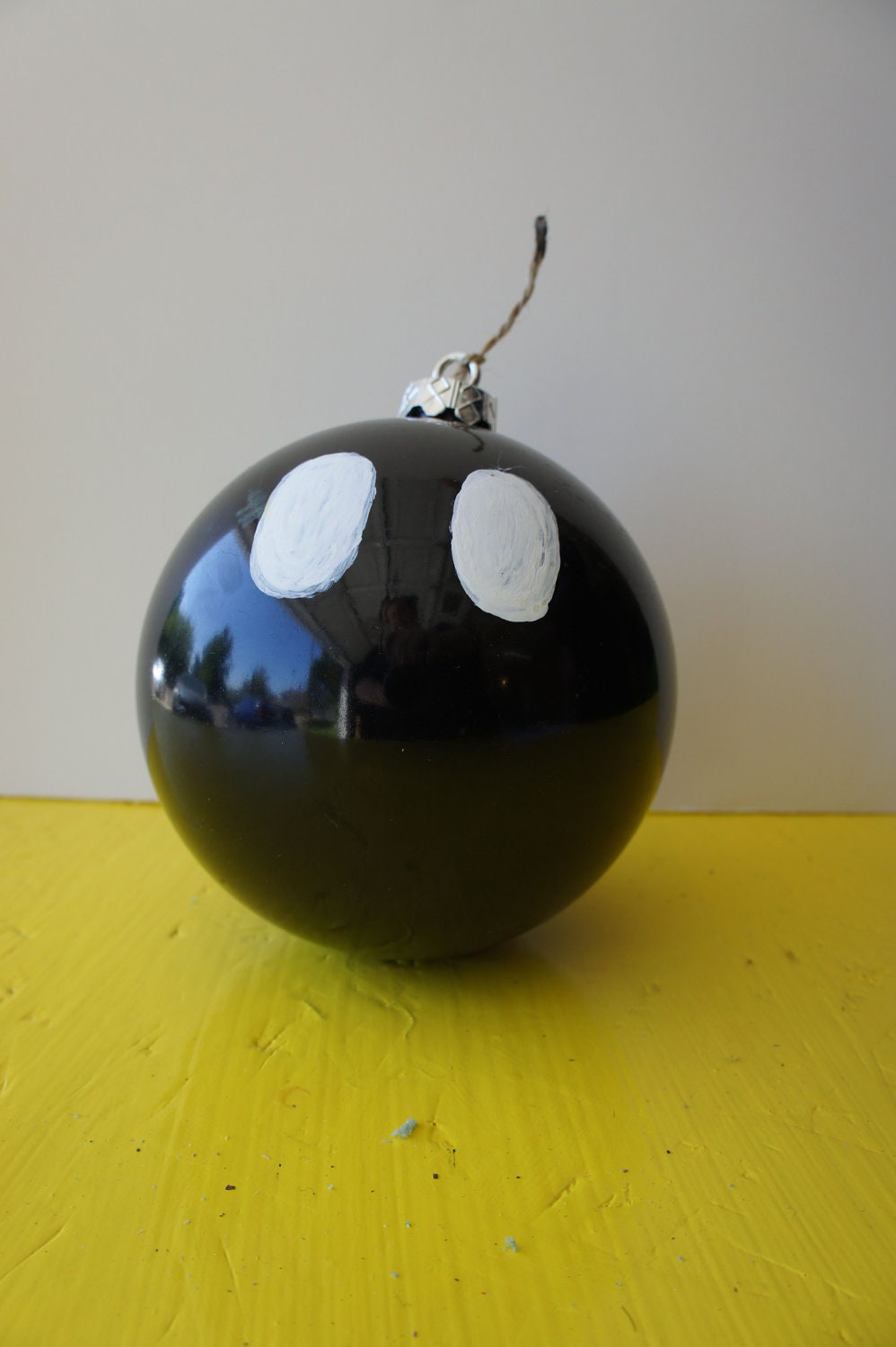 "Mario Bros. Bob-omb 5"" painted ornament"