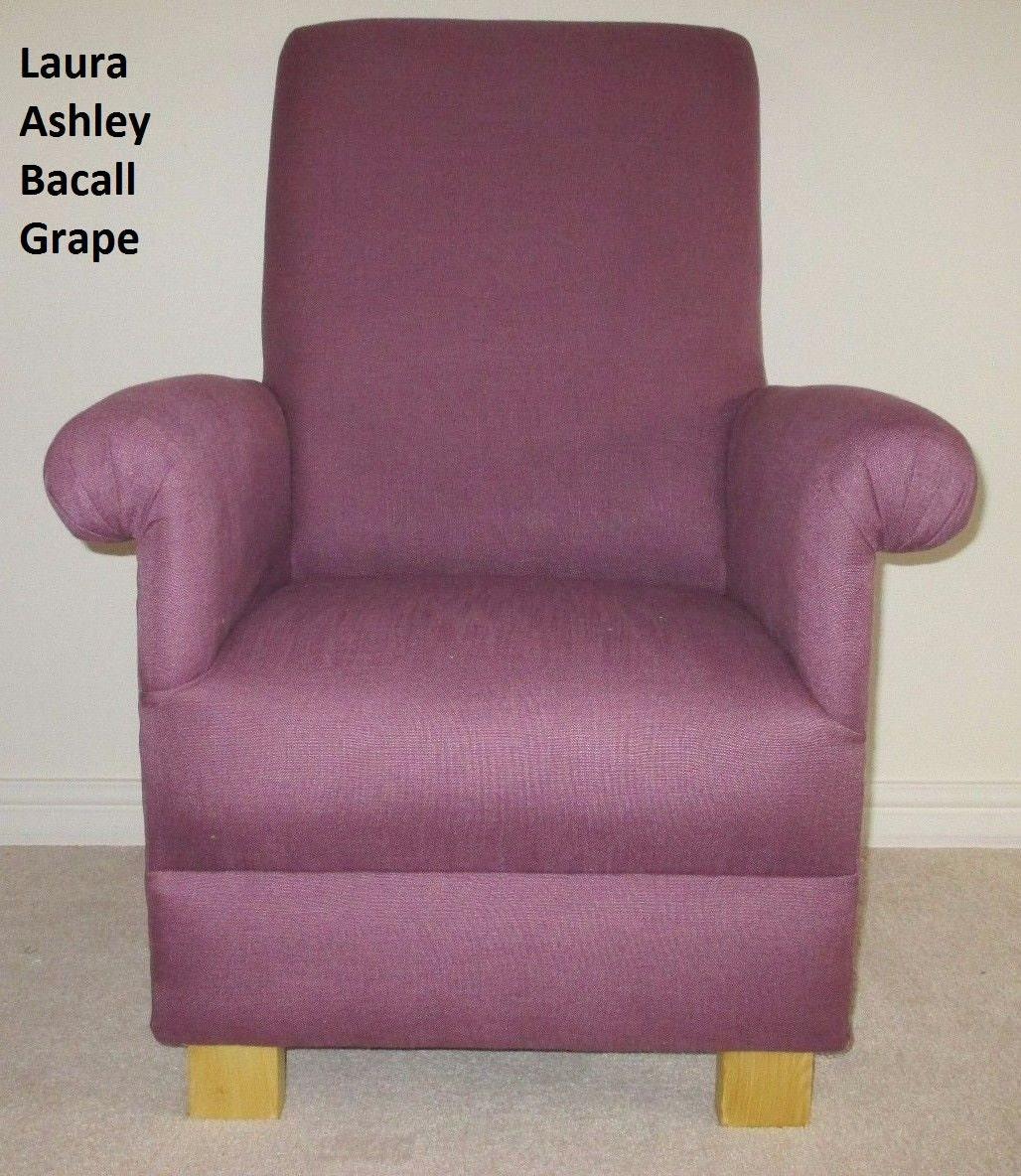 Laura Ashley Bacall Grape Fabric Adult Chair Purple Lilac Mauve Armchair Bedroom Nursery Occasional Bespoke