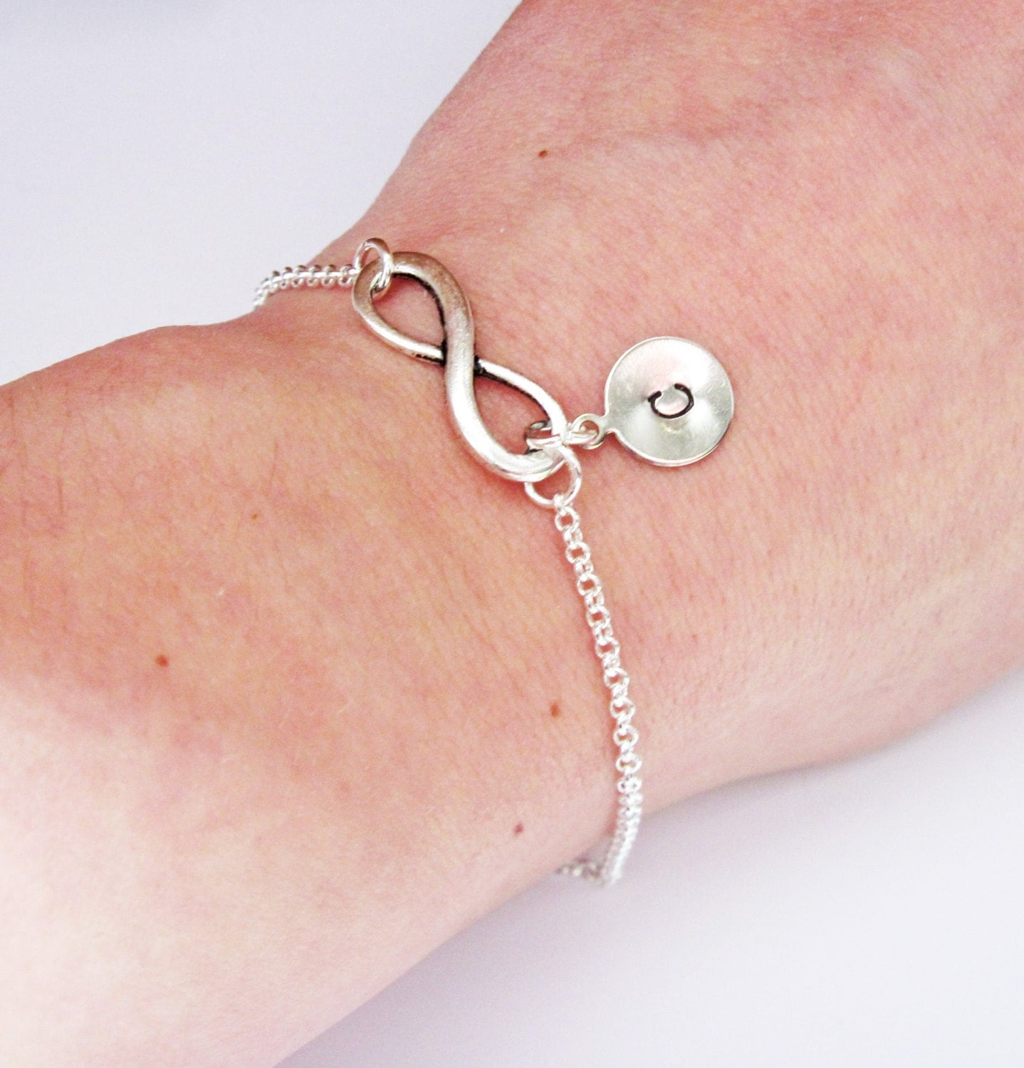 items similar to personalized infinity bracelet with