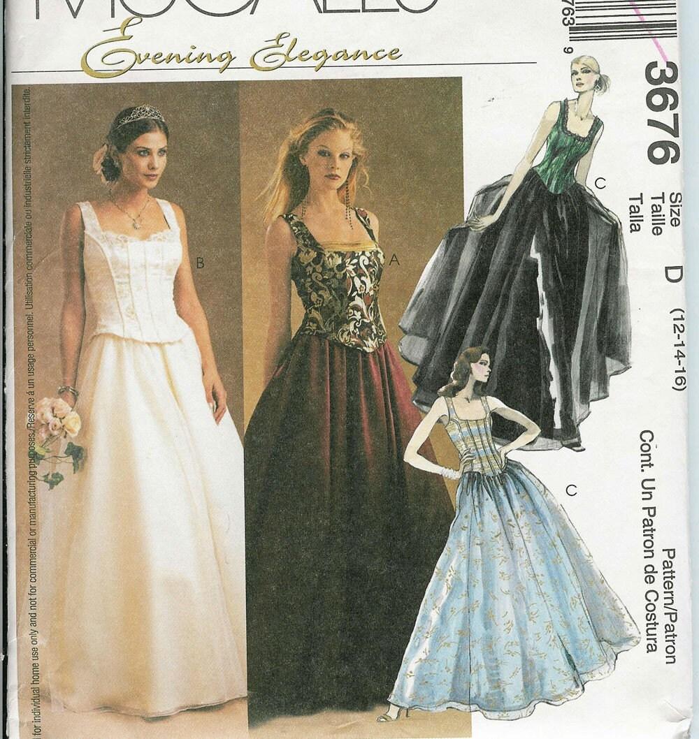 McCALLS 3676 Sewing Pattern WEDDING DRESS By PatternsNew2U