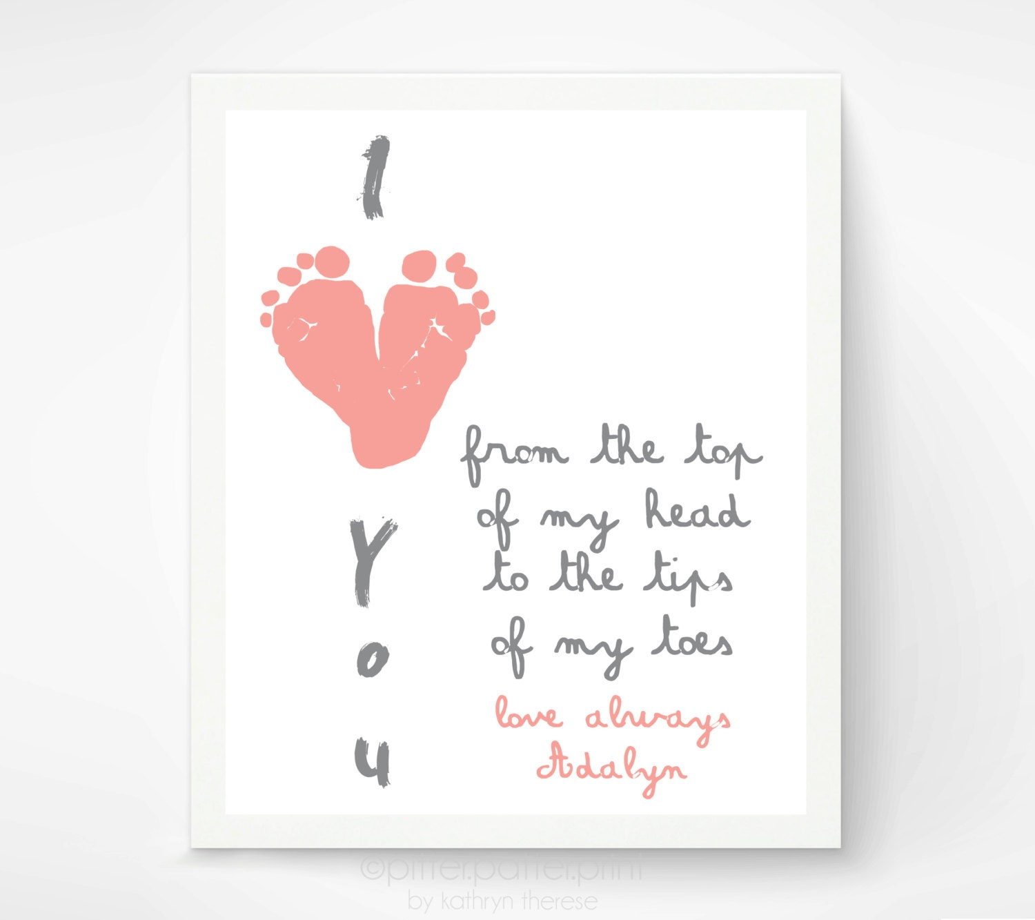 Baby Gifts For New Grandparents : Gift for grandparents i love you baby by pitterpatterprint