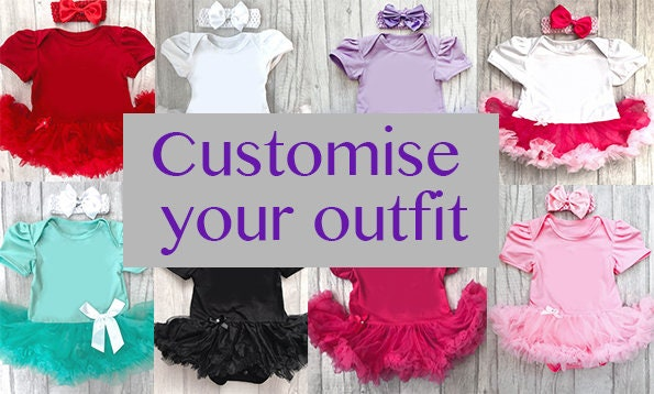 Customise your own baby girl tutu romper choose the colour of tutu romper and the text on the tutu romper colours glitter princess