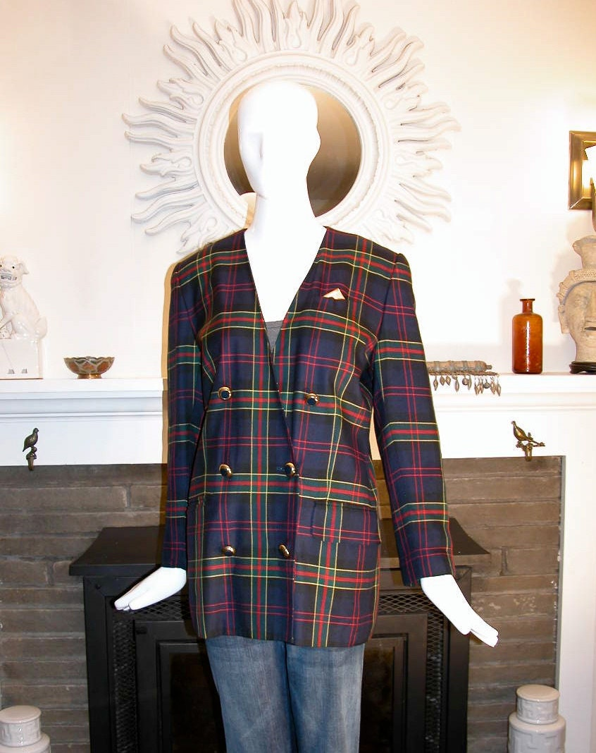 1980's, Plaid Women's Jacket, Tartan Menswear, Billy Reid