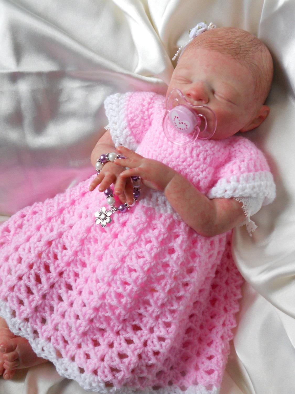 Easy Crochet Doll Dress Pattern : PDF FILE Crochet pattern Simple Shells Dress Baby by ...