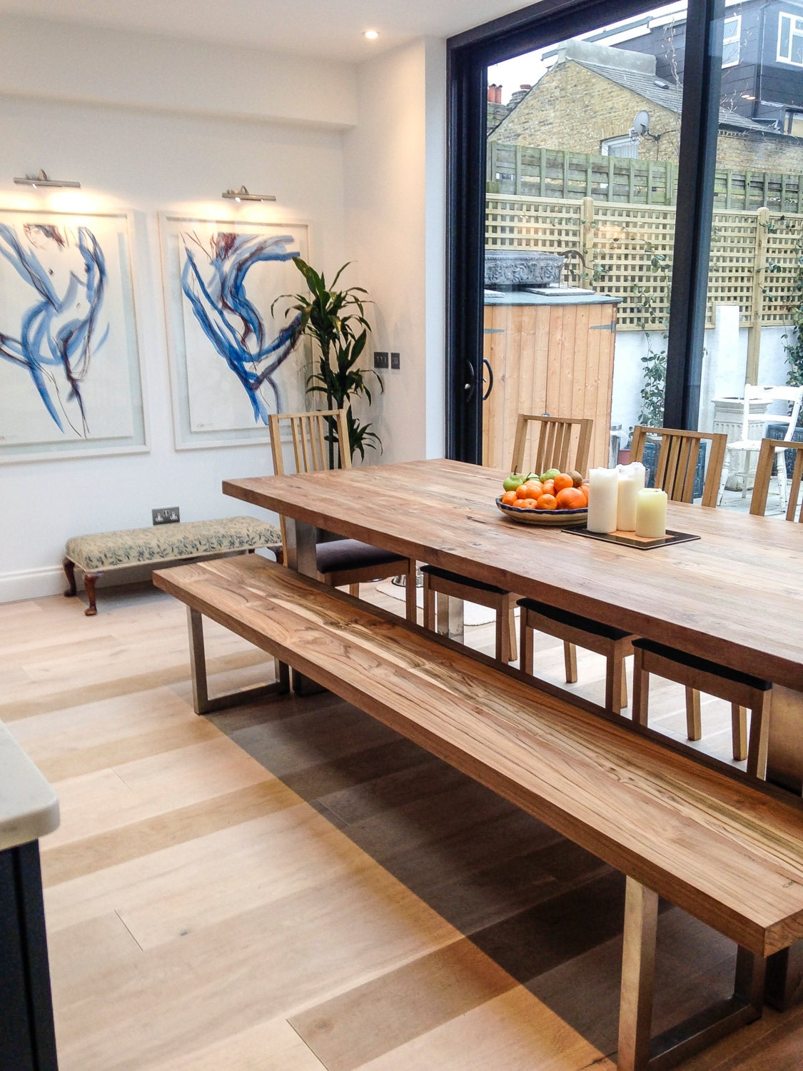 Waja Industrial Style Dining Table. Matching benches available as a set. Stunning ethical ecofriendly and free delivery!