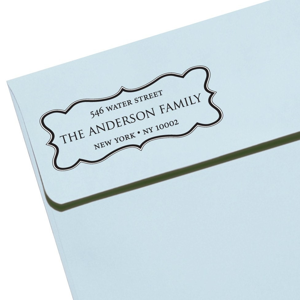 Custom address stamp eco friendly self inking by savethedate - Return gifts for housewarming function ...