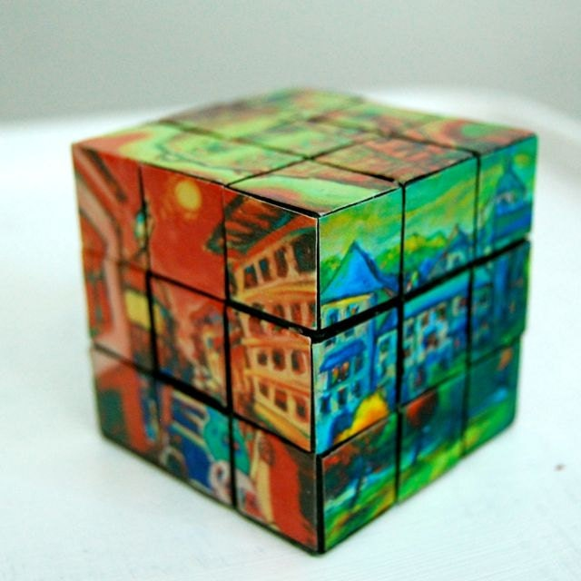 Rubik Cube Fun Decorative Art - Spain Camino de Santiago Paintings - Cool Novel Vintage Gift for Home, Corporate & All Occasions - yenpaintings