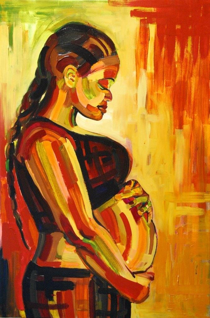 Pregnancy Art Painting Large Maternity Birth by AlishaVernon