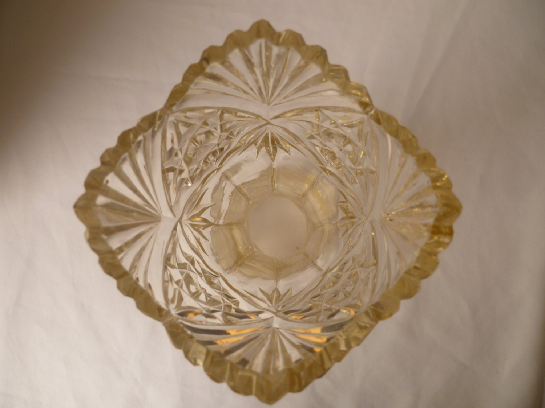 Art deco crystal Flower vase