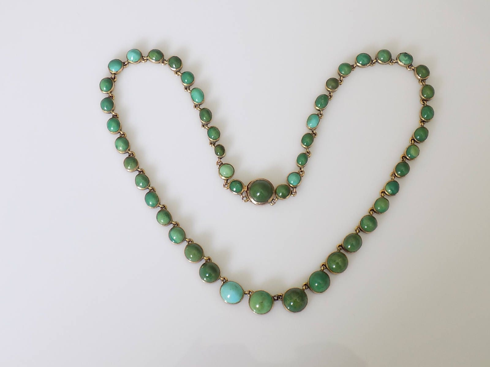 Antique Victorian Gold and Turquoise Riviere Necklace Rare Fine Jewellery Gift for Her