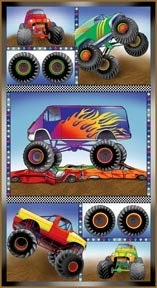 Monster truck panel fabric by fabricfreak43 on etsy for Monster truck fabric