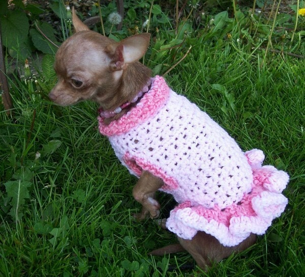 Crochet Dog Sweater NEW LOW PRICE ONLY 10.00 PER DRESS custom made in ...
