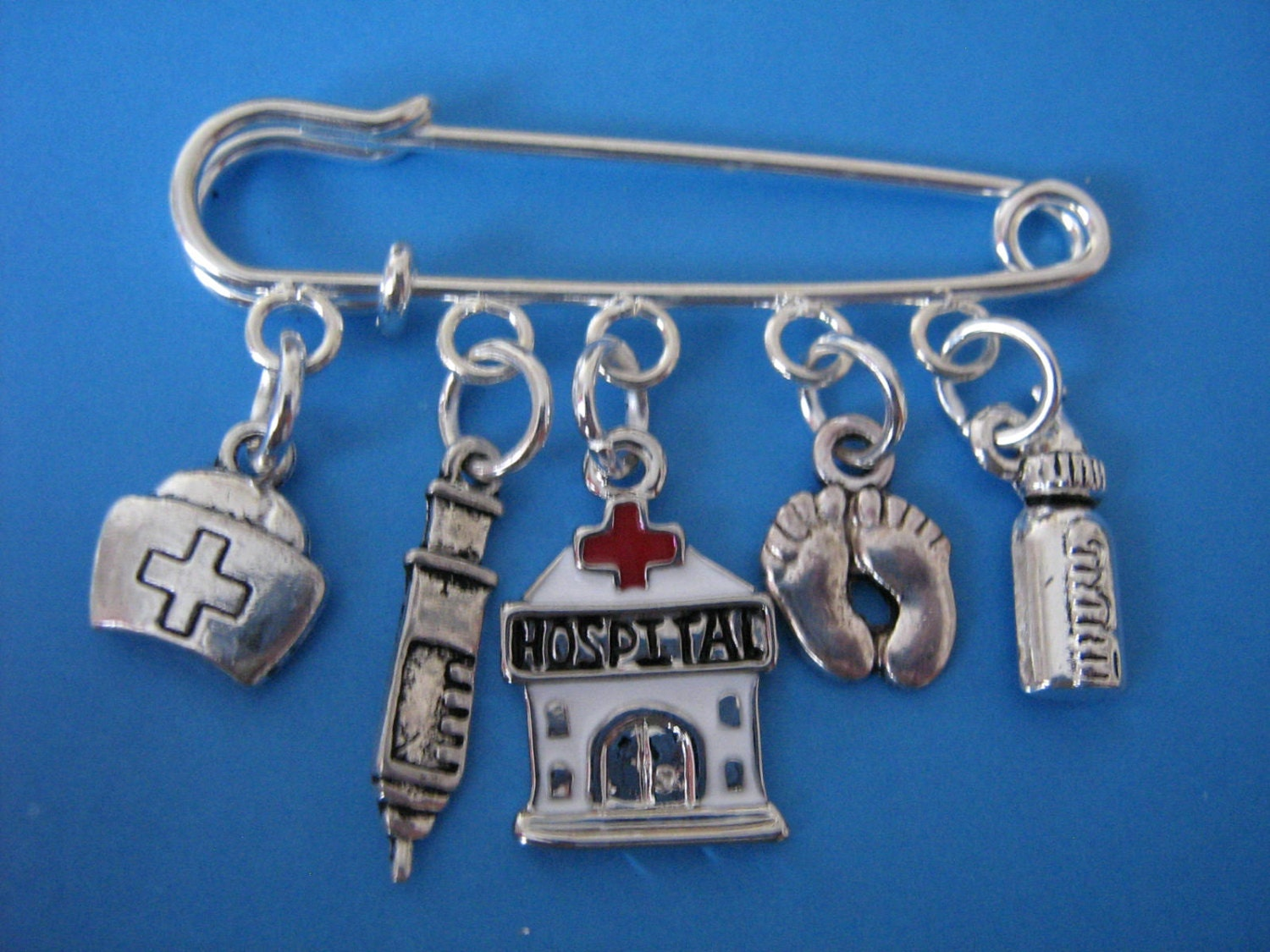 Midwife Brooch Paediatric Nurse Pin Hospital Baby Charms