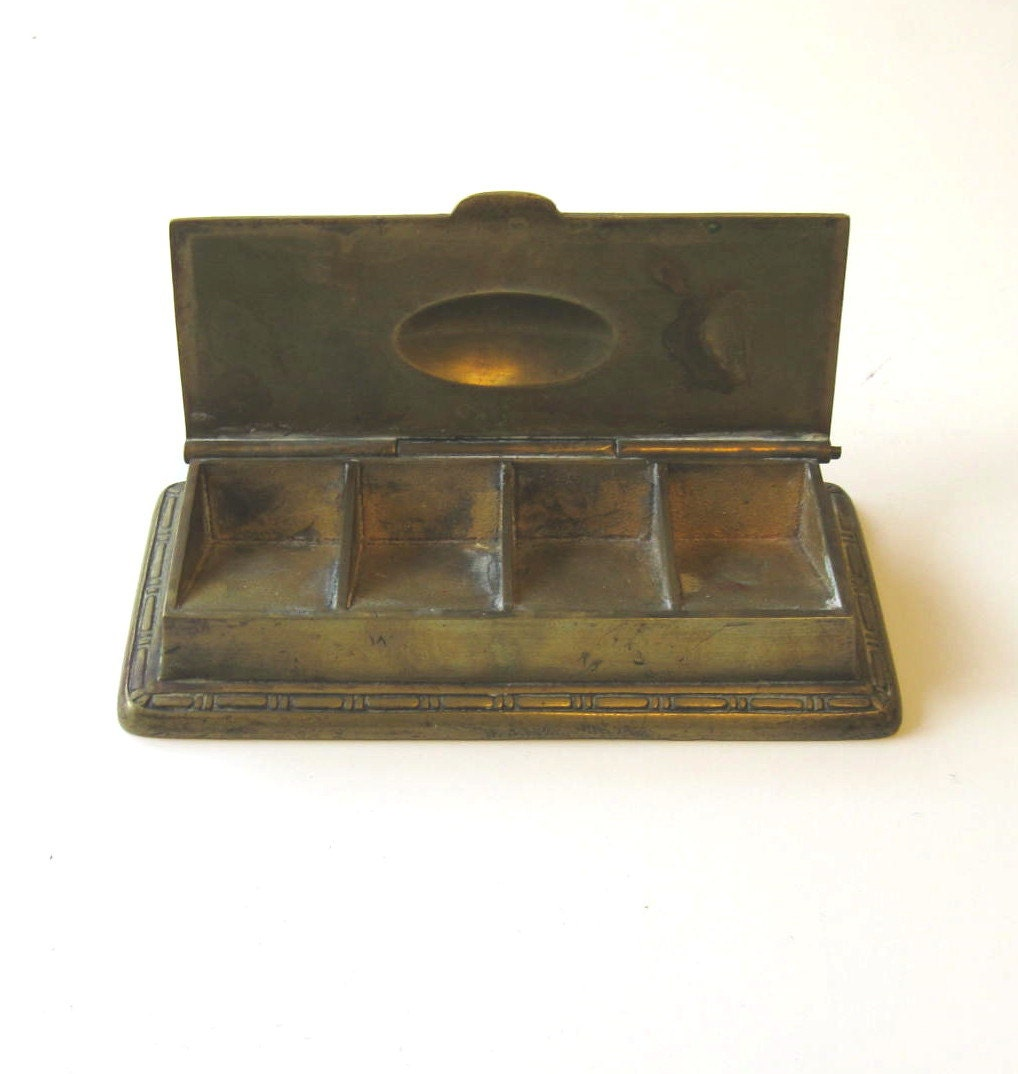 Vintage Brass Stamp Holder Home And Living By