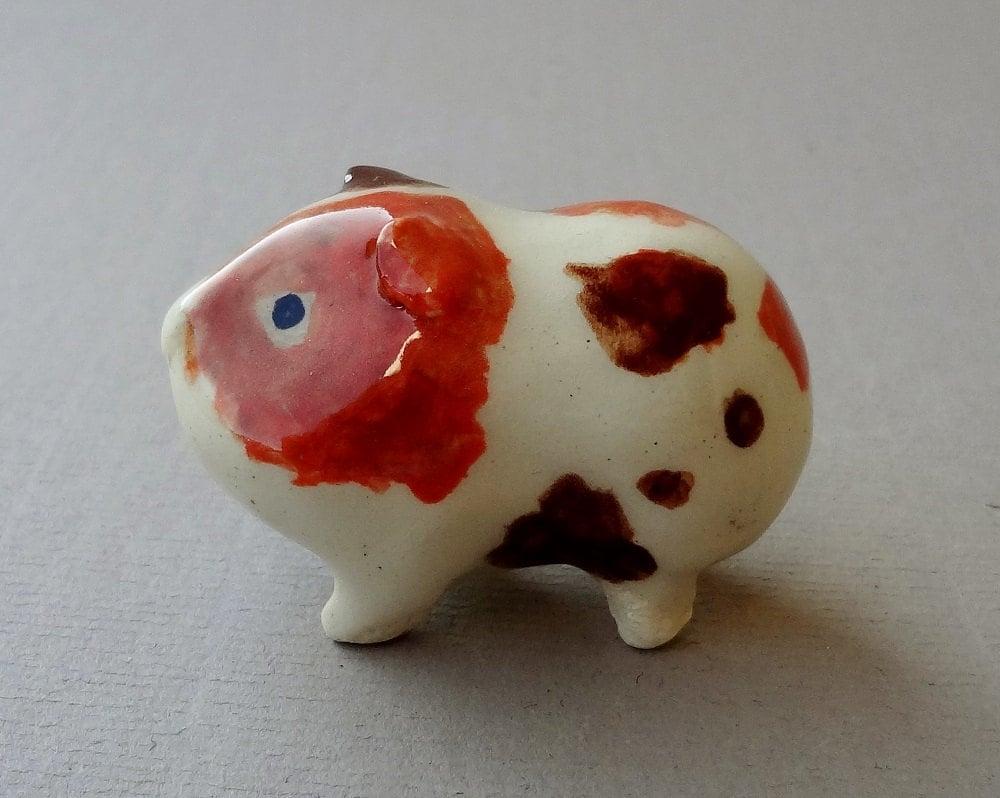 Guinea Pig Cavy Cake Topper Handmade Miniature Figurine
