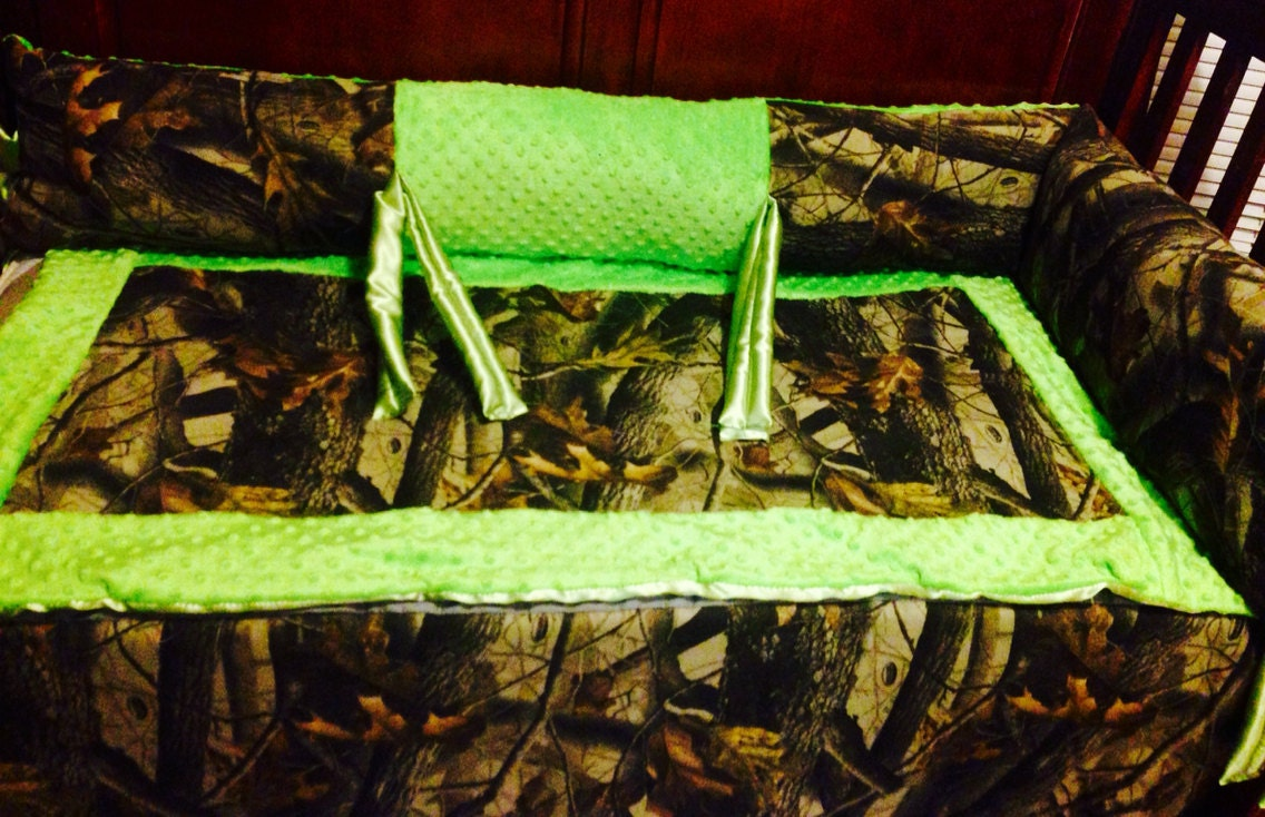 Lime Green Camo Baby Bedding Set By Ashtensmeenk On Etsy