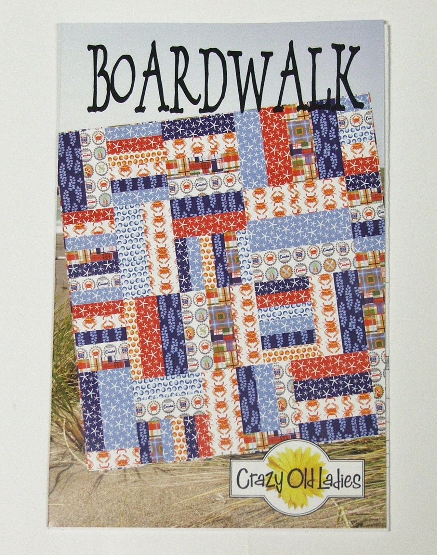 Crazy Quilt Pattern Fabric : Crazy Old Ladies Boardwalk Quilt Pattern by stitchesngiggles4U