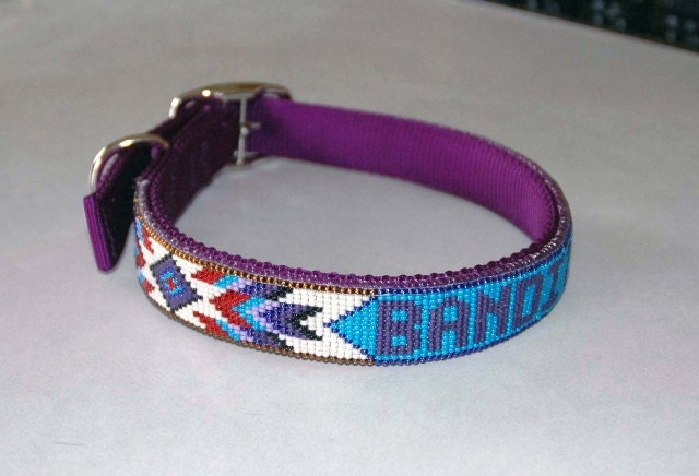 Beaded Dog Collar Etsy