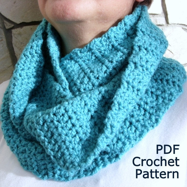 Free Crochet Neck Warmer Cowl Patterns : Items similar to PDF Crochet Pattern - Easy Cowl Neck ...