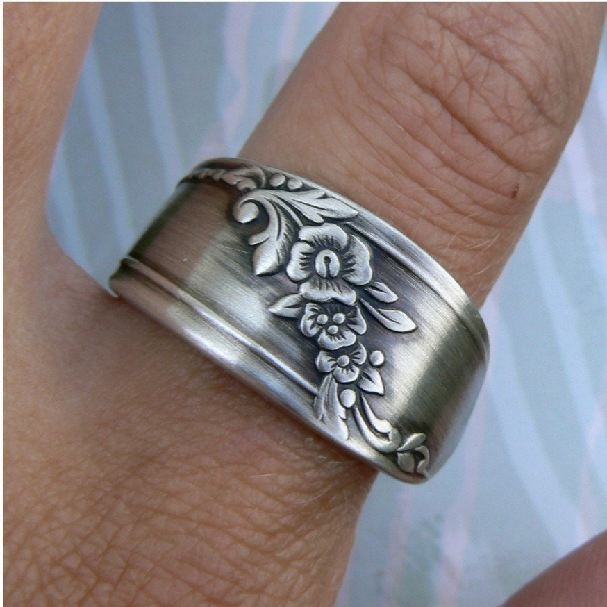 antique spoon ring silver pattern bess 2 by revisions