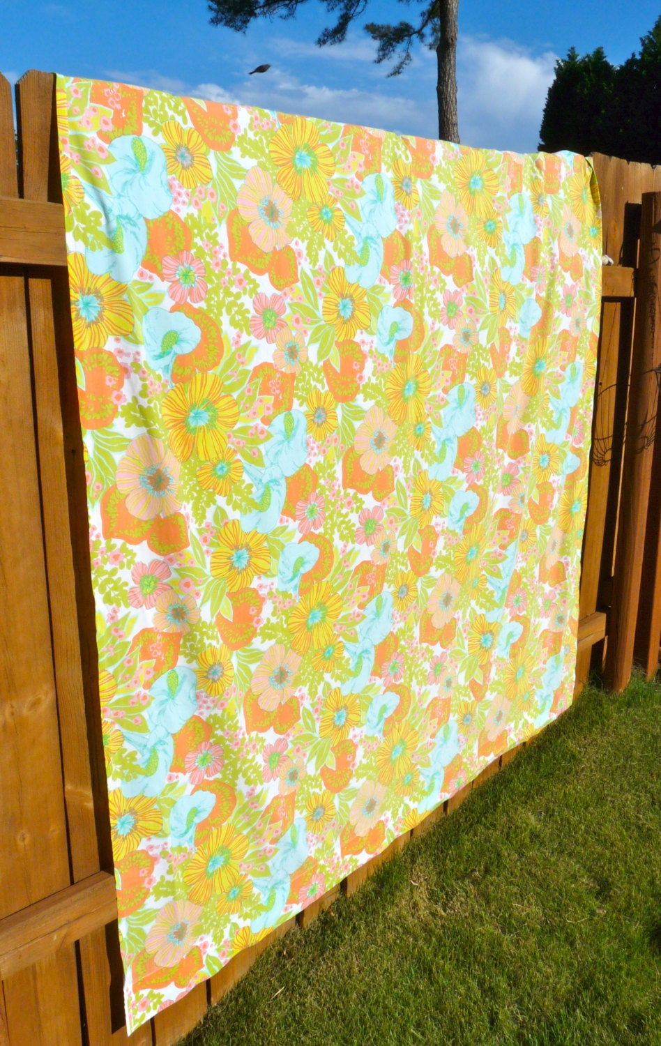 boho floral vintage retro shower curtain free by