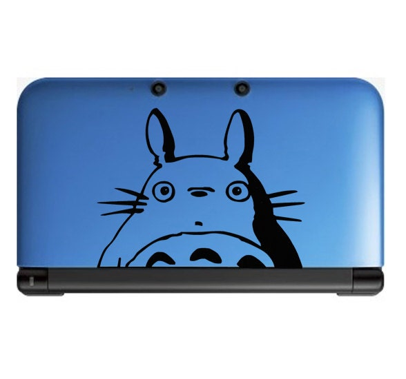 Totoro peeking Anime Decal for Nintendo 3ds, Macbooks, Laptop, iPhone, XBox, Playstation, Cars, Windows, Wall