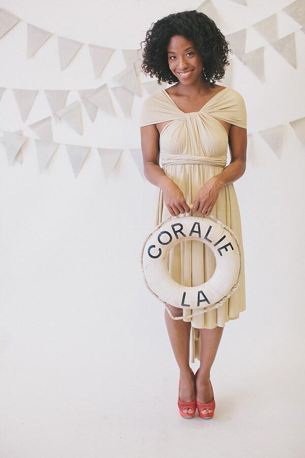 Octopus Infinity Wrap Dress- Key West Ivory- Weddings, bridesmaids - CoralieBeatrix