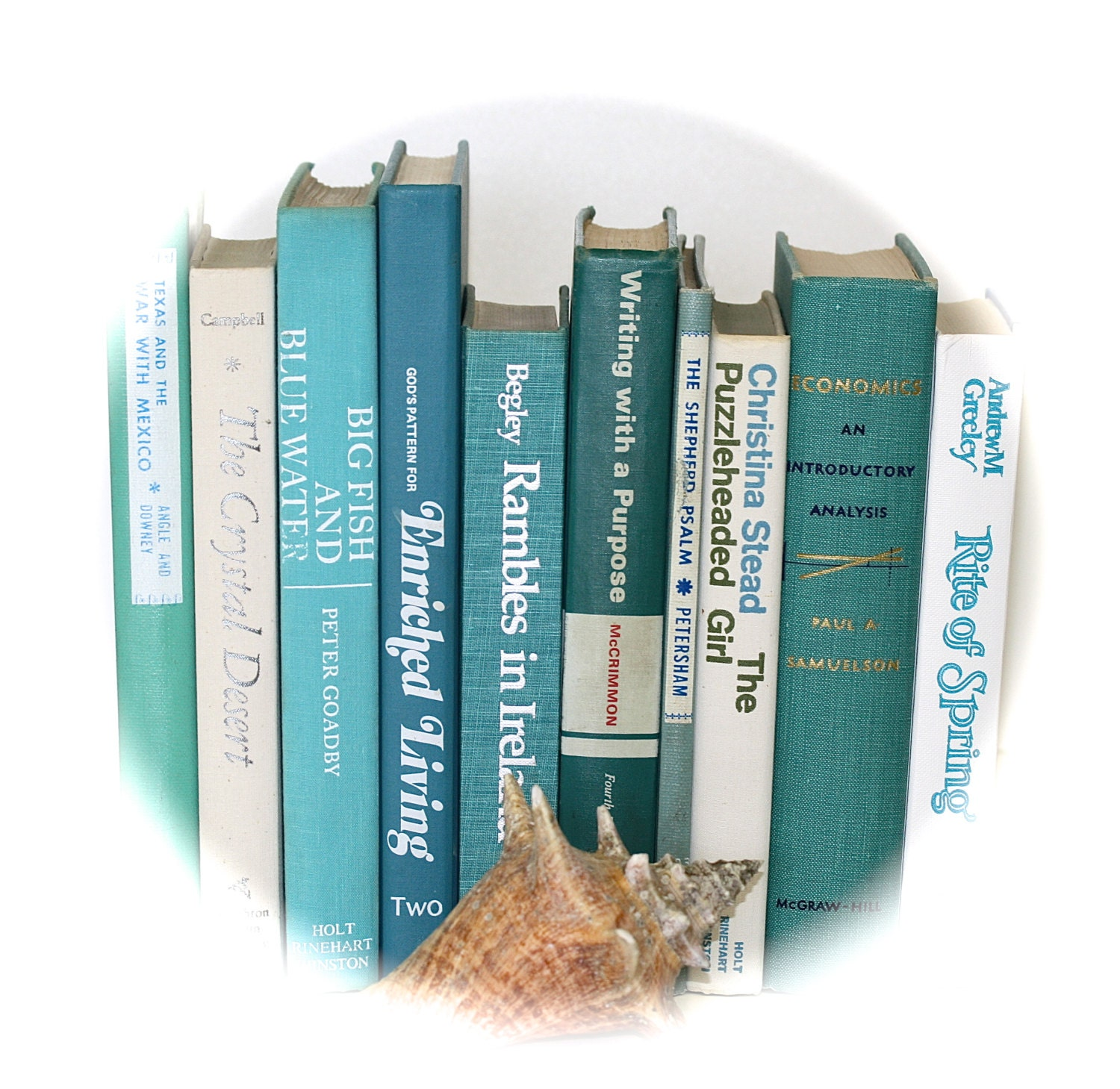 Beach Inspired Book Collection Sea Colors Home Decor TREASURY ITEM - jaysworld