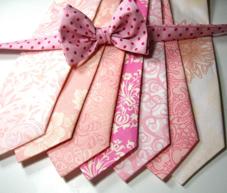 pink neckties neckties mens neckties cotton by tuxandtulle