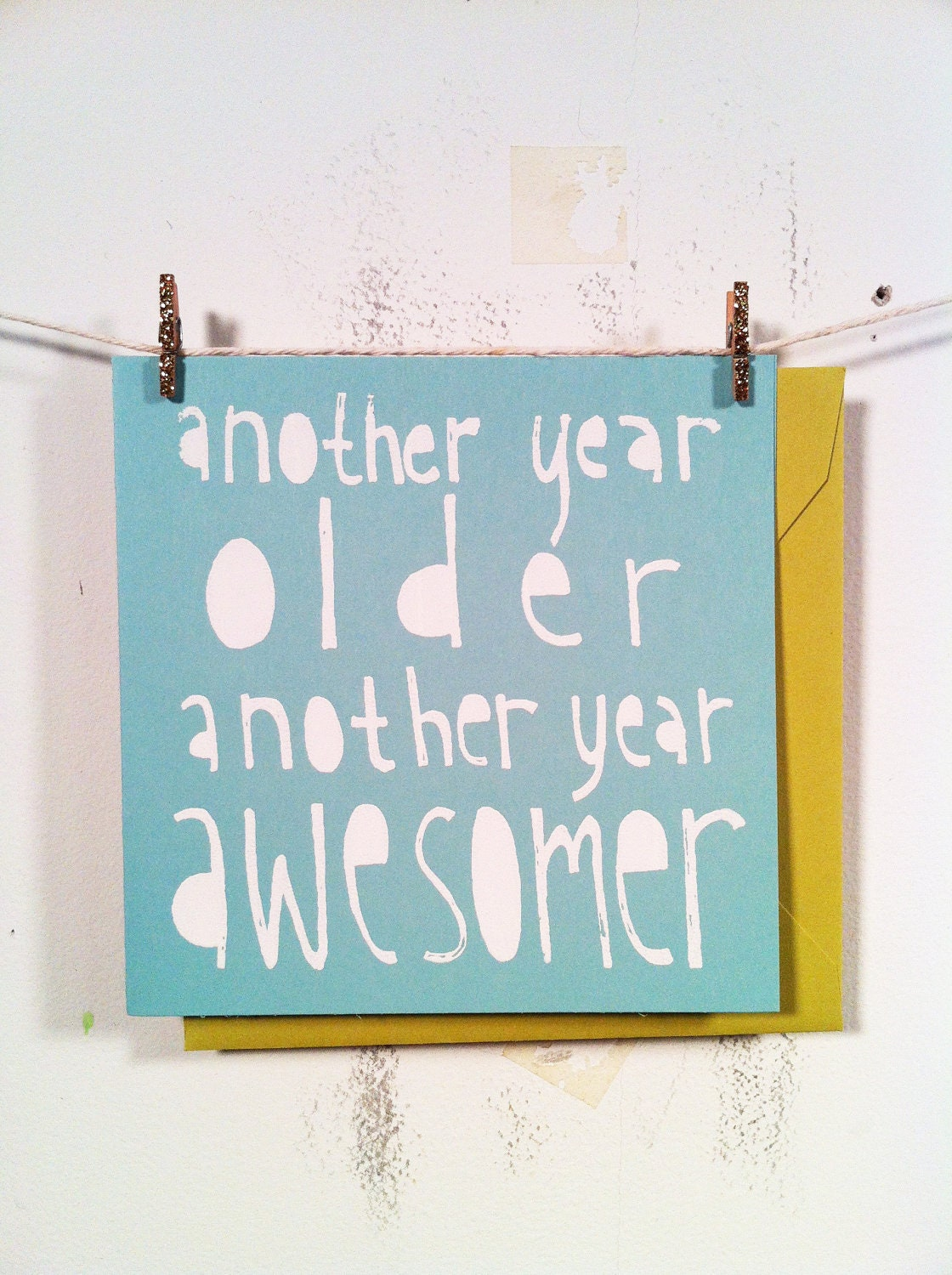 Ma Bicyclette: Buy Handmade   Birthday Cards - Another Year Older Another Year Awesomer by The Saint9 Shop