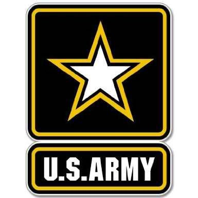 "U.S. ARMY Seal Sticker Decal 4"" x 5"""