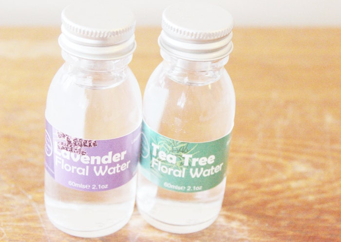 Choice of Two Natural Floral Water Facial Toners - Rose, Lavender, Chamomile, Tea Tree or Orange - LittleSkincareShop