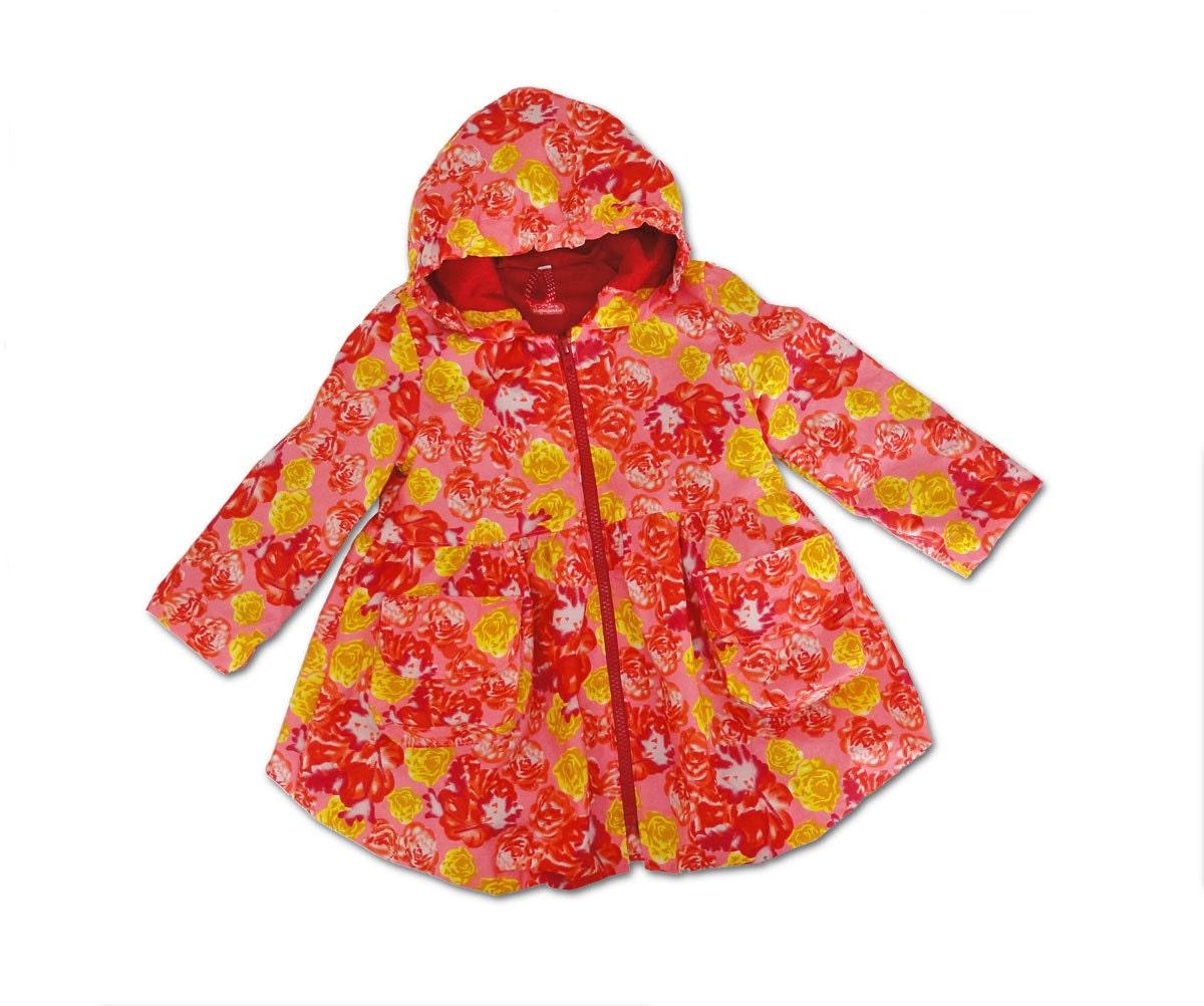 Girls Coat Summer Coat Spring Coat Floral Balloon coat sz 3T EU 92 cm Europe - Stoffenjunkie