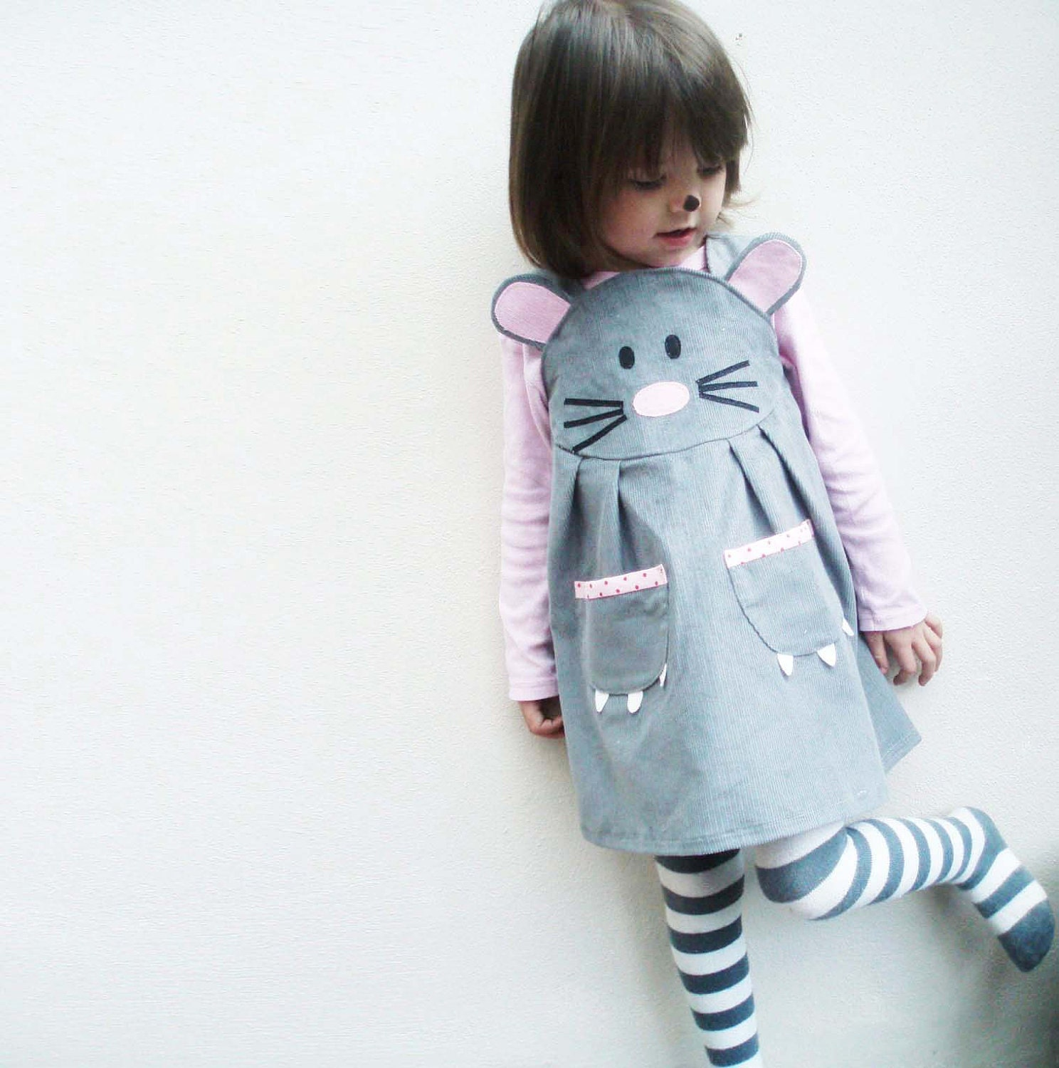 Mouse girls Halloween dress - wildthingsdresses