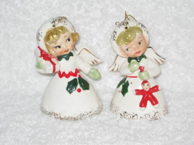 Vintage 1959 Christmas Holiday Angel Bell By