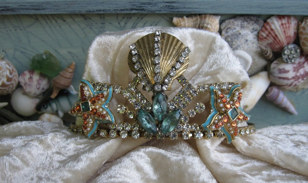 Vintage Rhinestone Mermaid Tiara Beach Wedding From LadidaHandbags