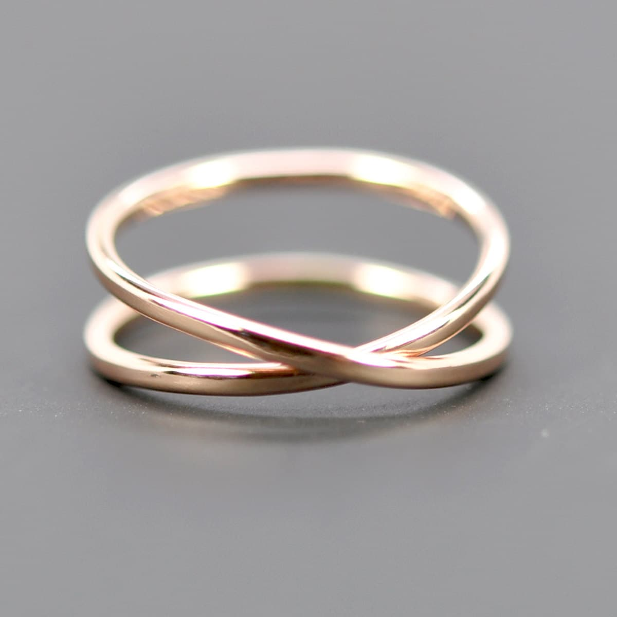 14k gold infinity ring eternity band unique by
